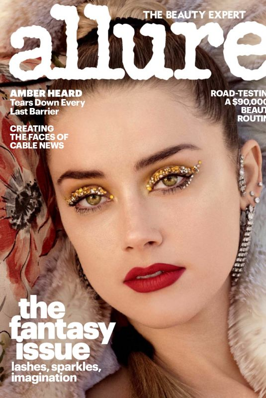 AMBER HEARD in Allure Magazine December 2017 Issue