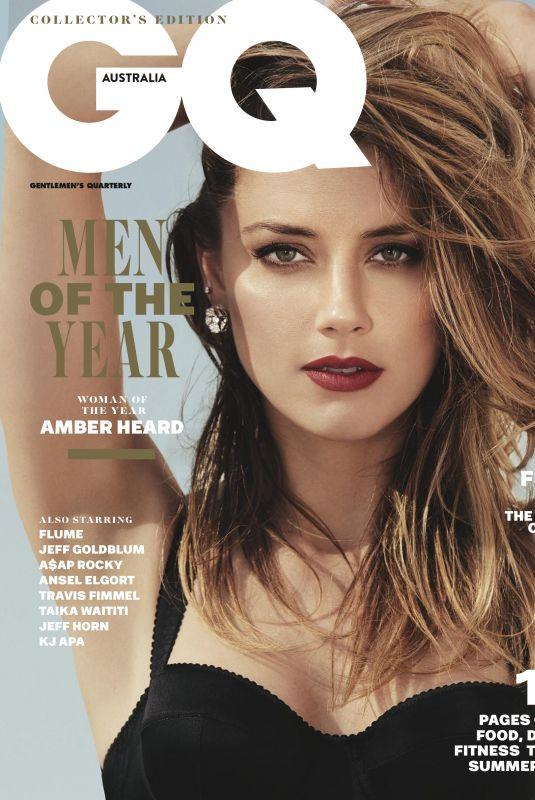 AMBER HEARD in GQ Magazine, Australia December 2017 Issue