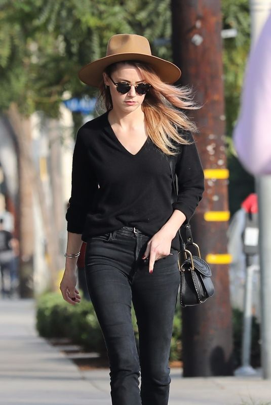 AMBER HEARD Leaves Cafe Gratitude in West Hollywood 11/10/2017