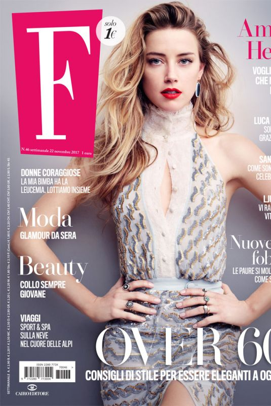 AMBER HEARD on the Cover of F Magazine, November 22nd 2017