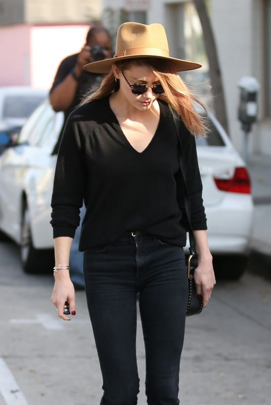 AMBER HEARD Out for Lunch in West Hollywood 11/10/2017