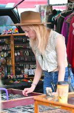 AMBER HEARD Out Shopping at Pasadena Flea Market 11/12/2017