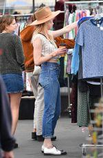 AMBER HEARD Shopping at Pasadena Flea Market 11/13/2017