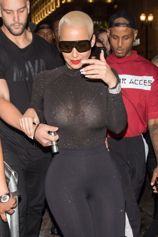AMBER ROSE Arrives to Project LA in Hollywood 11/01/2017