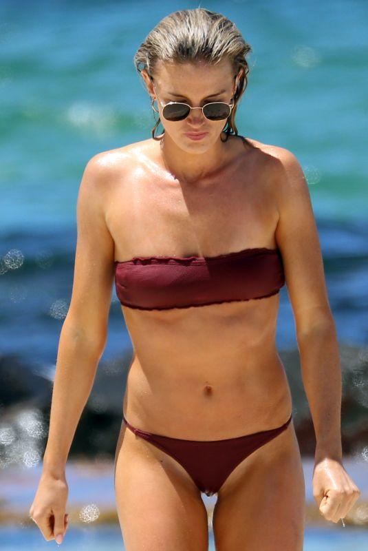 AMY PEJKOVIC in Bikini at Balmoral Beach in Sydney 11/26/2017