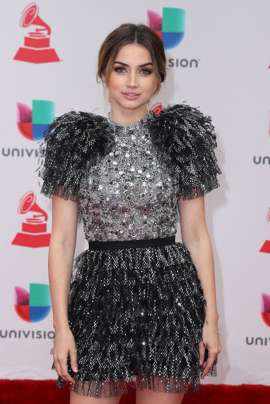 ANA DE ARMAS at Latin Grammy Awards 2017 in Las Vegas 11/16/2017