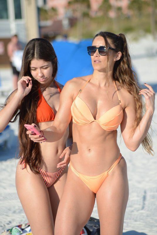 Anais Zanotti and Nicole Cardia in Bikini on the pool in Miami Pic 5 of 35