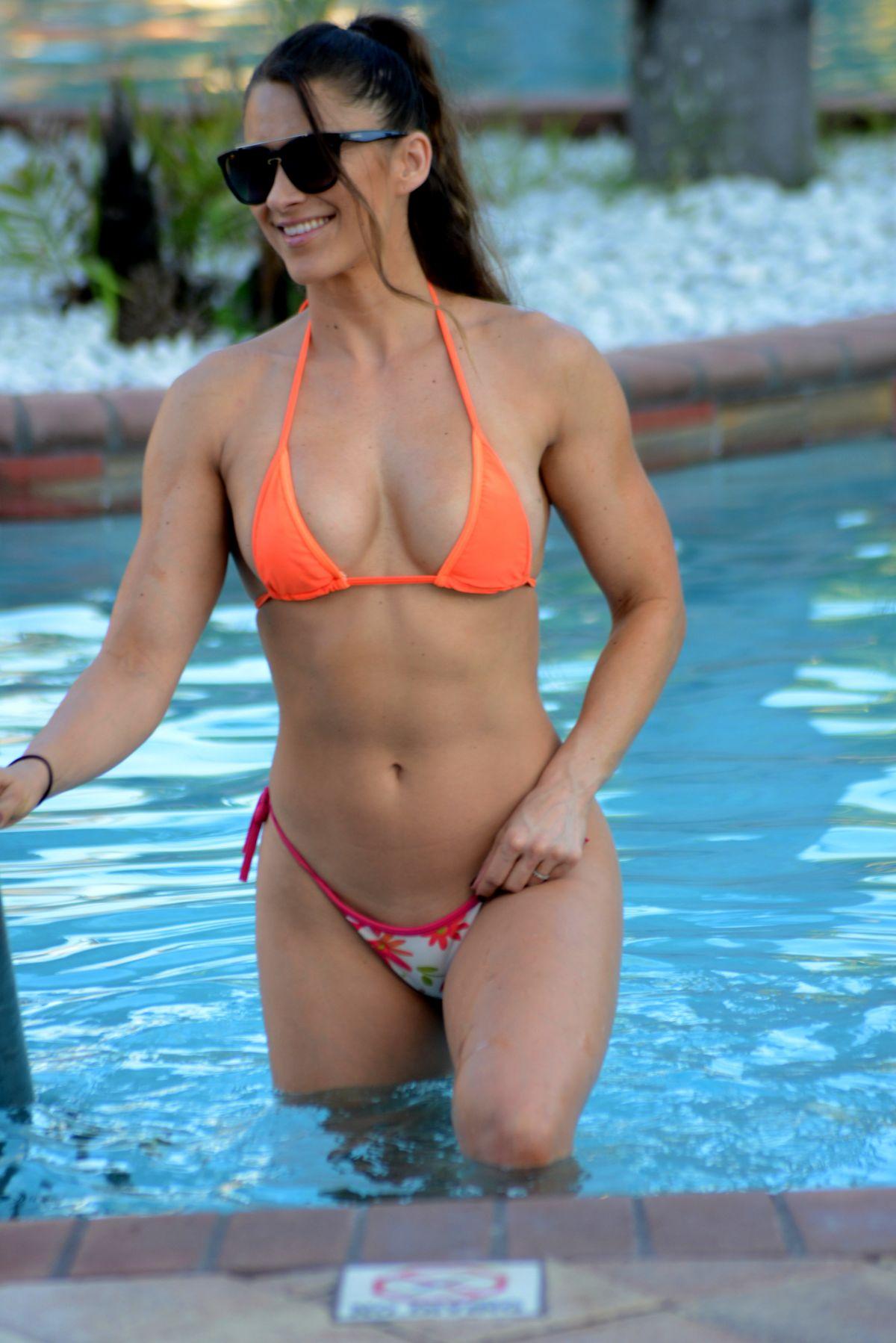 ANAIS ZANOTTI and NICOLE CARDIA in Bikinis at a Pool in