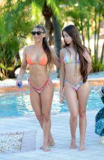 ANAIS ZANOTTI and NICOLE CARDIA in Bikinis at a Pool in Miami 11/07/2017