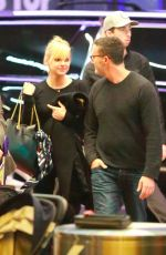 ANNA FARIS and Michael Barrett at LAX Airport in Losa Angeles 11/11/2017