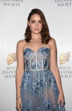 ANNA PASSEY at Royal Television Society Awards in Manchester 11/11/2017