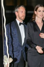 ANNE HATHAWAY and Adam Shulman at Cipriani in New York 11/15/2017
