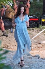 ANNE HATHAWAY on the Set of Nasty Women in Mallorca 02/11/2017