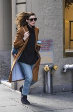 ANNE HATHAWAY Out and About in New York 11/21/2017