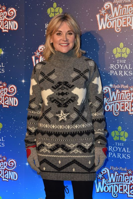 ANTHEA TURNER at Winter Wonderland at Hyde Park in London 11/16/2017