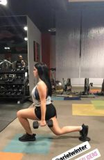 ARIEL WINTER Working at a Gym in Los Angeles 11/07/2017