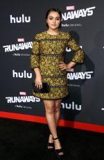 ARIELA BARER at Runaways Premiere in Los Angeles 11/16/2017