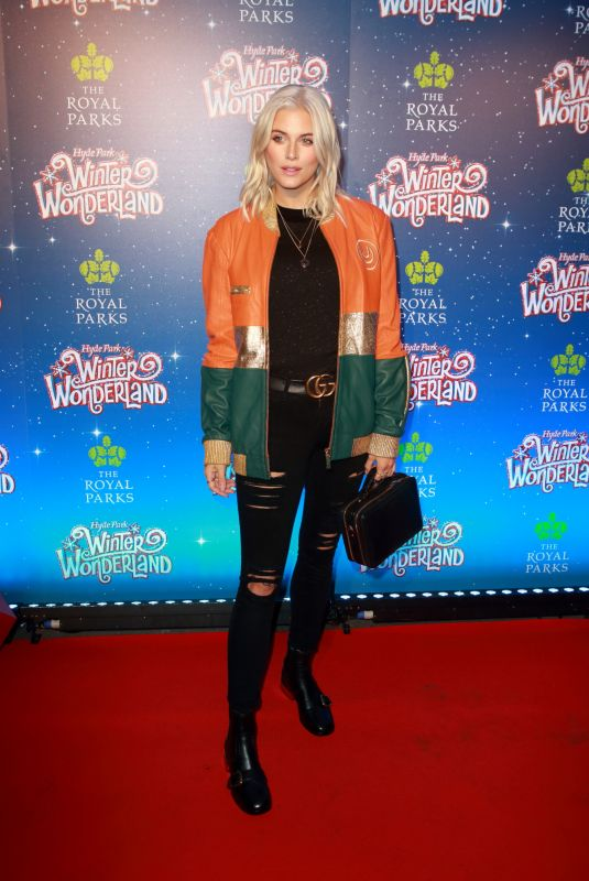 ASHLEY JAMES at Winter Wonderland at Hyde Park in London 11/16/2017