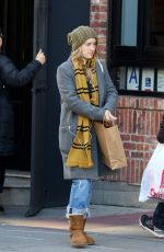 ASHLEY JOHNSON Out and About in New York 11/10/2017