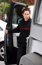 ASHLEY TISDALE at a Gym in Beverly Hills 11/02/2017