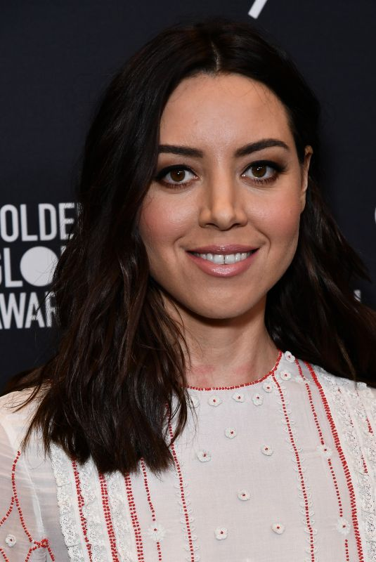 AUBREY PLAZA at HFPA & Instyle Celebrate 75th Anniversary of the Golden Globes in Los Angeles 11/15/2017
