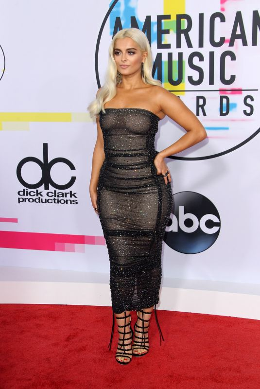BEBE REXHA at American Music Awards 2017 at Microsoft Theater in Los Angeles 11/19/2017