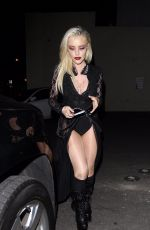BEBE REXHA at Halloween Party at Delilah in West Hollywood 10/31/2017