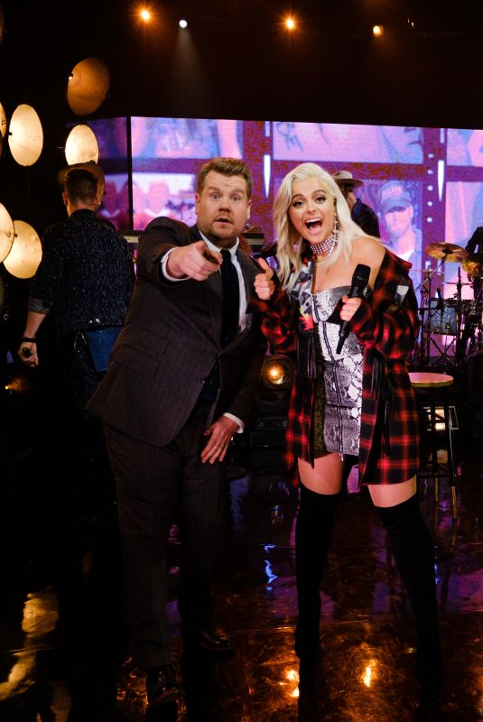 BEBE REXHA at Late Show with James Corden in New York 11/16/2017