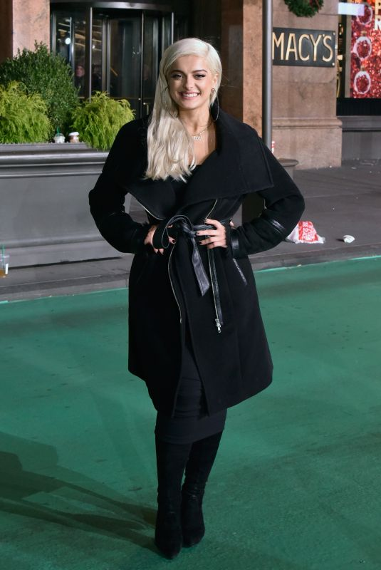 BEBE REXHA at Macy's Thanksgiving Day Parade Rehearsals in New York 11/21/2017