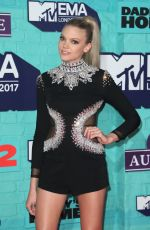 BECCA DUDLEY at 2017 MTV Europe Music Awards in London 11/12/2017