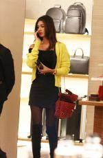 BELEN RODRIGUEZ Shopping at Louis Vuitton in Milan 11/21/2017