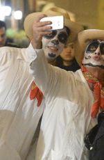 BELLA HADID Celebrates Halloween on the Streets of Rome 11/01/2017