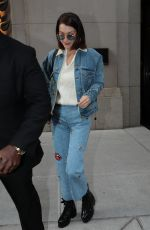 BELLA HADID in Denim Out and About in New York 11/14/2017