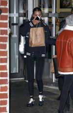 BELLA HADID Leaves Barbuto in New York 11/15/2017