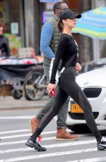 BELLA HADID Out and About in New York 11/08/2017
