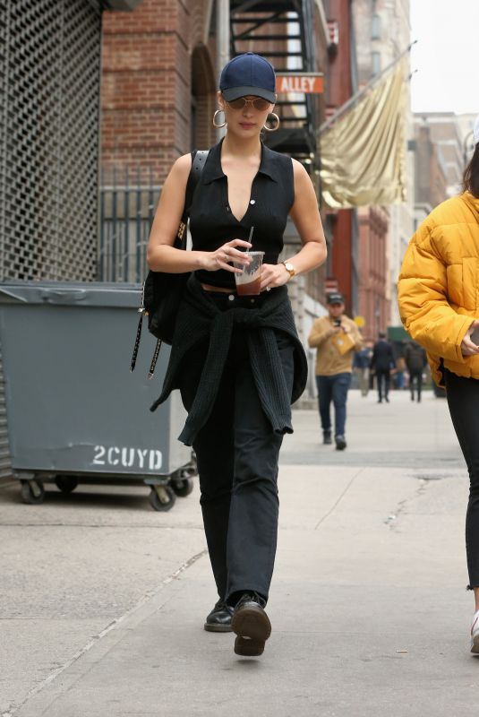 BELLA HADID Out for Coffee in New York 11/06/2017