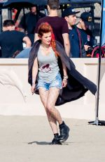 BELLA THORNE on the Set of Famous in Love in Malibu 11/13/2017