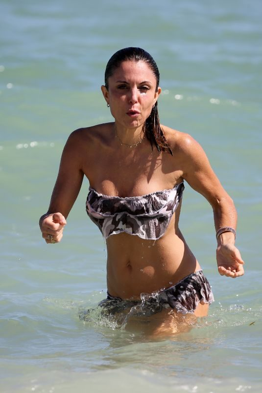 BETHENNY FRANKEL in Bikini on the Beach in Miami 11/05/2017
