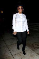 BLAC CHYNA Leaves a Recordnig Studio in Los Angeles 11/10/2017