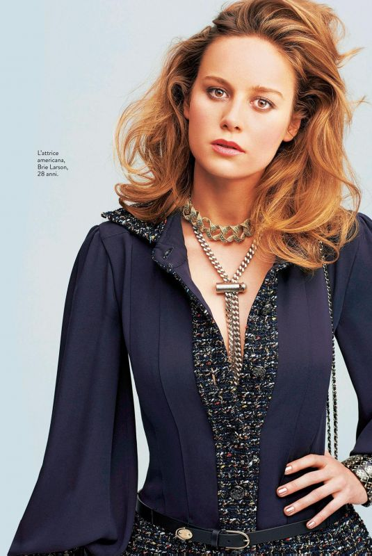 BRIE LARSON in Grazia Magazine, November 2017
