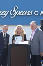BRITNEY SPEARS at Nevada Childhood Cancer Foundation Britney Spears Campus Opening 11/04/2017