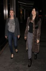 BRITTNY GASTINEAU Out for Dinner at Madeo Restaurant in West Hollywood 11/21/2017