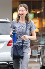 CALISTA FLOCKHART Leaves Soulcycle in Brentwood 10/30/2017