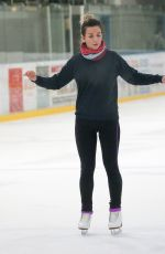 CANDICE BROWN at Dancing on Ice Rehersal in Essex 11/13/2017