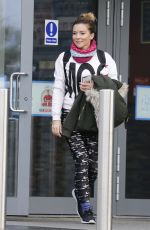 CANDICE BROWN Leaves Dancing on Ice Rehersal in London 11/21/2017