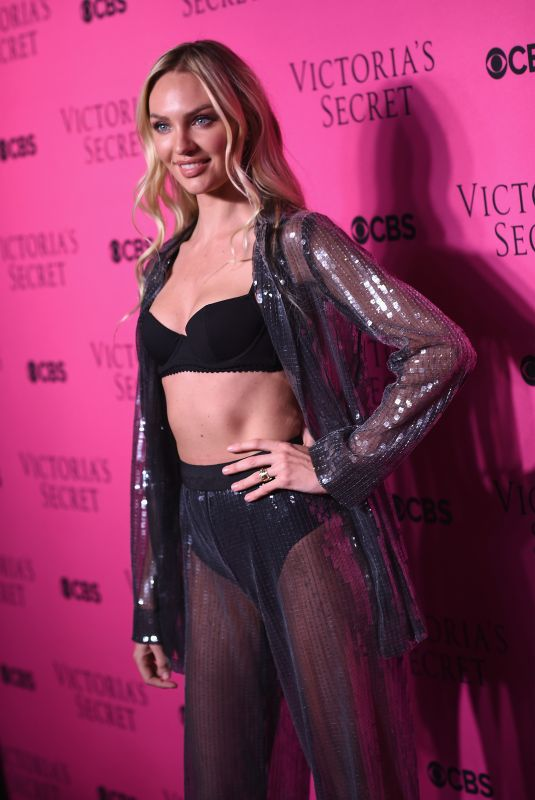 CANDICE SWANEPOEL at Victoria's Secret Angels Viewing Party 2017 in New York 11/28/2017