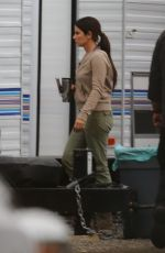 CANDRA BULLOCK on the Set of Her New Movie Bird Box in Los Angeles 10/30/2017