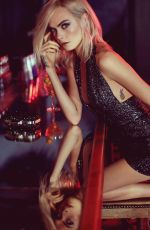 CARA DELEVINGNE for Jimmy Choo 2017 Holiday Campaign