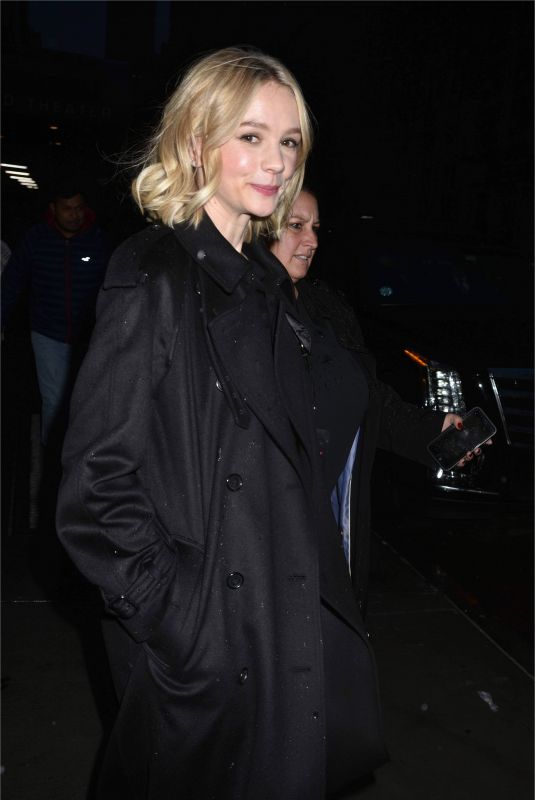 CAREY MULLIGAN Night Out in New York 11/18/2017