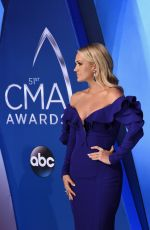 CARRIE UNDERWOOD at 51st Annual CMA Awards in Nashville 11/08/2017